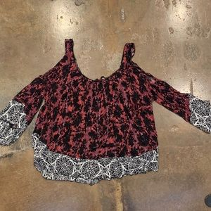 Free people floral shirt